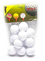 Мячи для гольфа (н-р 12 шт)(d-4 см)