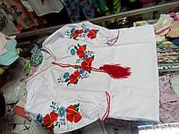 Рубашка Вышиванка детская для девочек р.116 -164