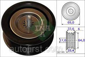INA Ролик натяжной MB Sprinter CDI (ручейковый)