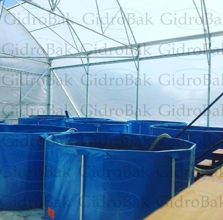 Бассейн для выращивания рыбы Гидробак 7 м.куб.