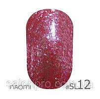 Гель-лак Naomi Self Illuminated Colllection №SI-12 (малиново-красный с блестками), 6 мл
