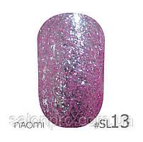 Гель-лак Naomi Self Illuminated Colllection №SI-13 (сиреневый с блестками), 6 мл