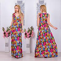 """Длинное платье в пол """" Ромашки """" Dress Code"""