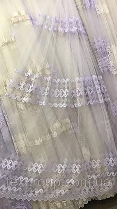 Красивая тюль в нежной вышивкой №851, фото 2