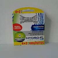 Кассет для бритья мужские Wilkinson Sword Hydro 5 Sensitive 6 шт. (Шик Вилкинсон сенсетив Германия)