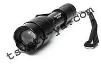Компактный мощный фонарь BL-8353 Police 2000W, прочный металлический корпус, клипса на пояс, 1*14500, зарядка