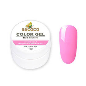 Гель-краска GD Сосо Color Gel 102 гламурный розовый 5 ml