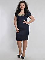 Платье с коротким рукавом,батал 5141
