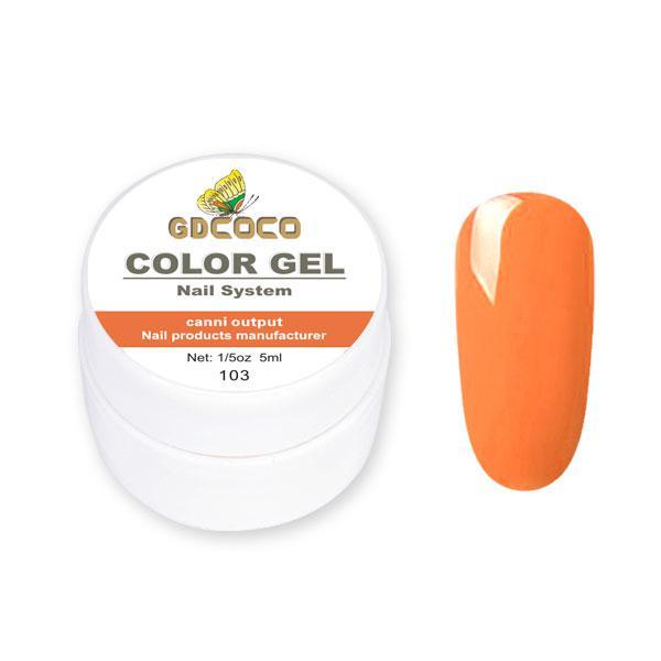 Гель-краска GD Сосо Color Gel 103 дерзкий морковный 5 ml