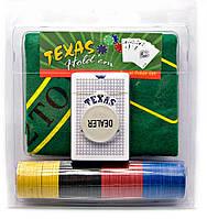 Покерный набор в блистере (колода карт,100 фишек,сукно)(23х21х4 см)