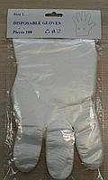 Перчатки полиэтиленовые Gloves одноразовые на планке
