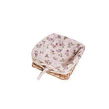 Хлебница плетеная Lilac Rose