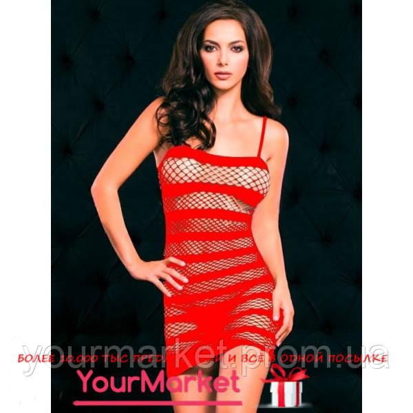 Сексуальное красное платье - сетка Мэри Джо