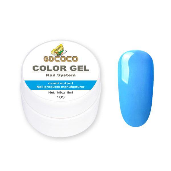 Гель-краска GD Сосо Color Gel 105 голубой 5 ml