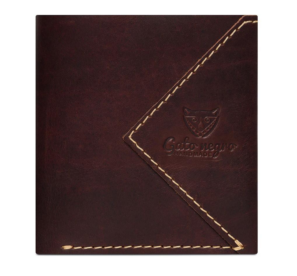 8e72baa023b6 Кожаный кошелек ручной работы Gato Negro Compact мужской, коричневый (мужские  кошельки из натуральной кожи)