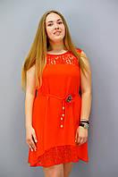 Маки. Платья больших размеров. Красный. 50