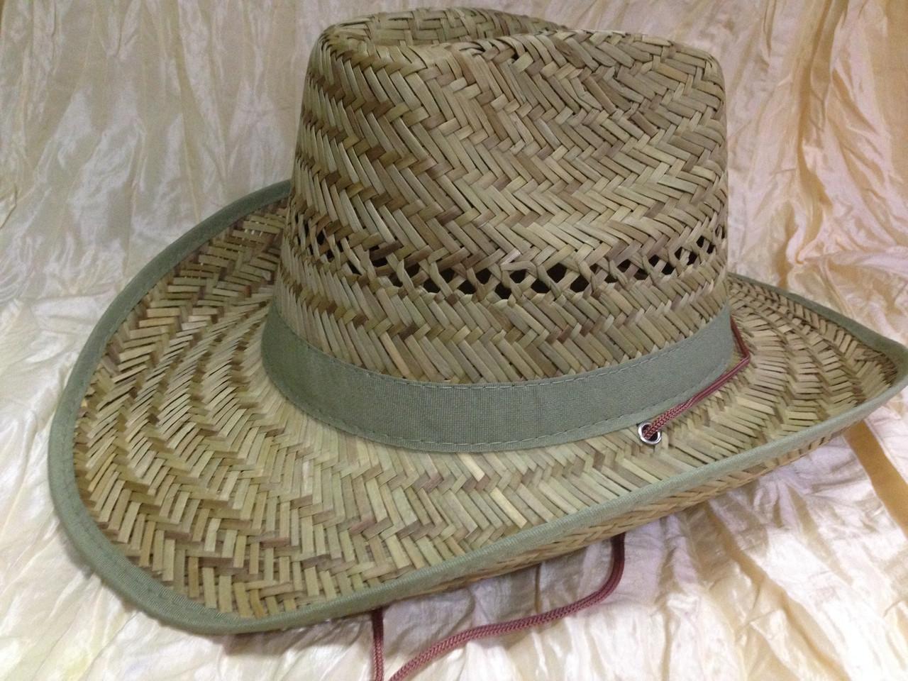 Мужская шляпа популярной формы ковбойка из пшеничной соломки