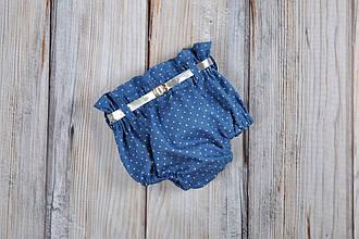 Блумеры, шортики на памперс, голубой джинс 62р