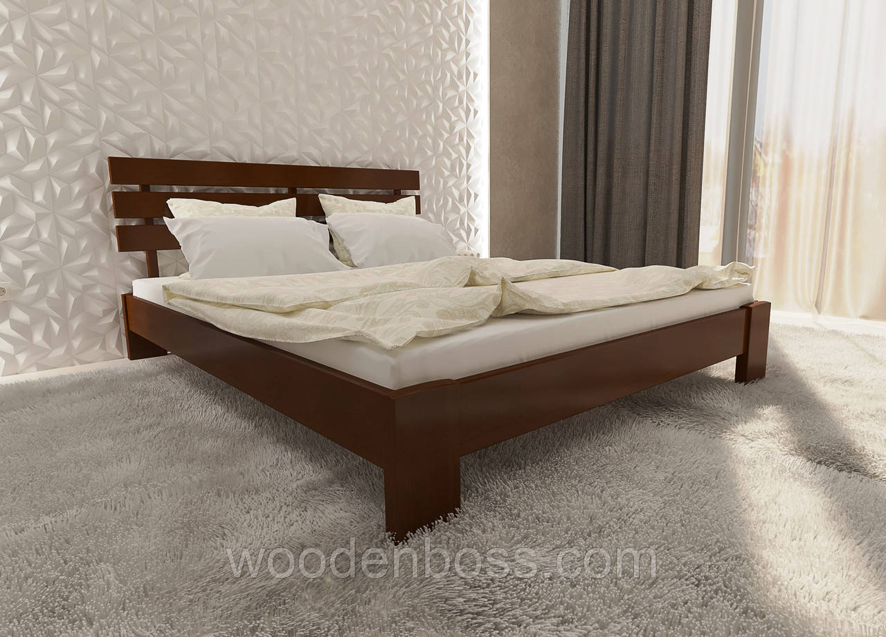 """Кровать двуспальная от """"Wooden Boss"""" Сакура Люкс (спальное место 160х190/200)"""