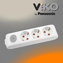 Колодка на 3 гнезда с заземлением и выключателем Multi-let VIKO