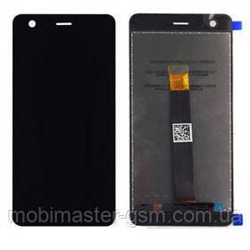 Дисплейный модуль Nokia 2 Dual Sim (TA-1029, TA-1035) черный