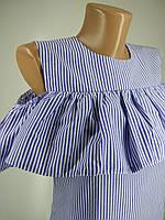 Женское платье рюш, полосатое, нежный образ на лето