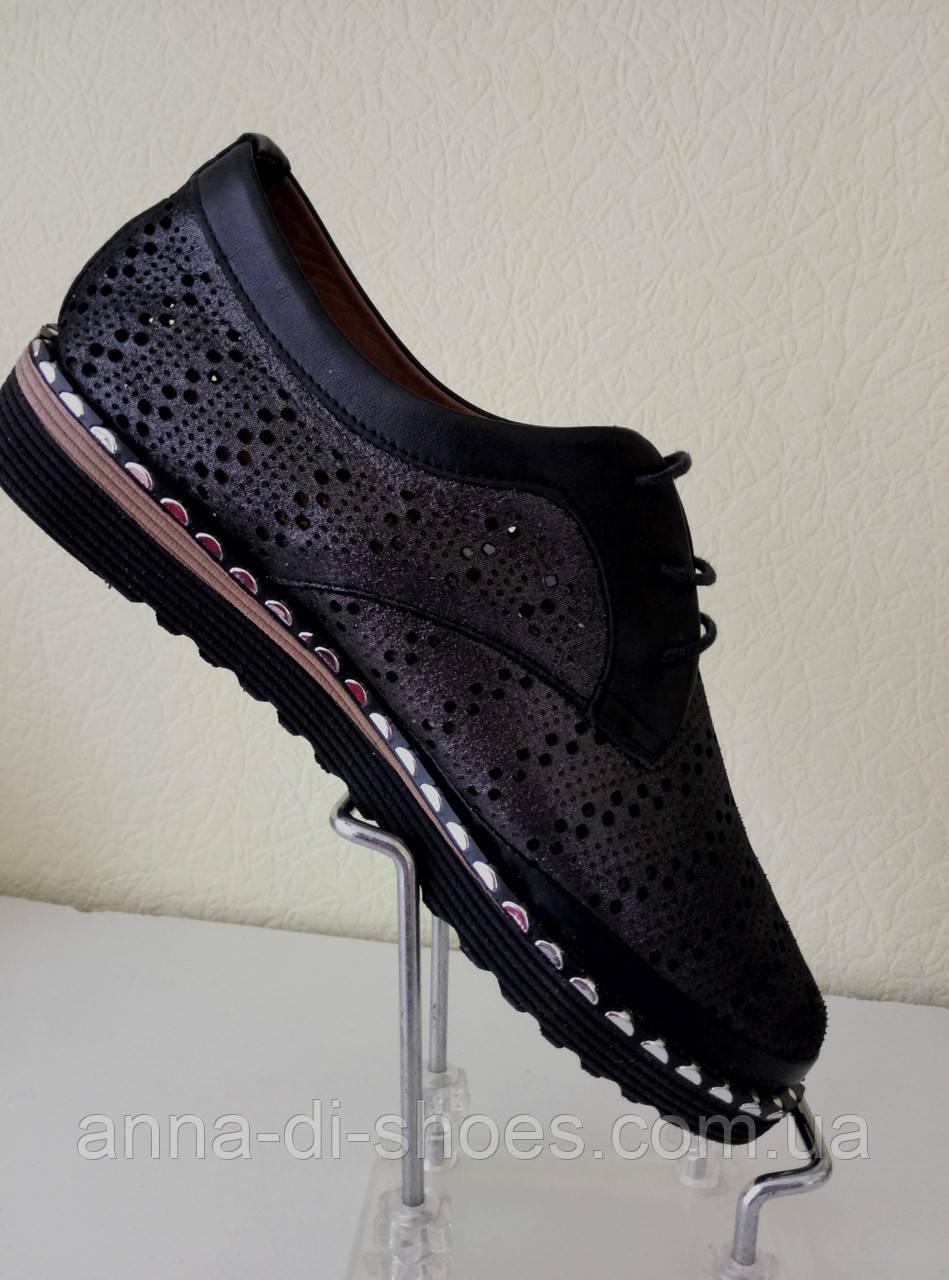 ede68c35991e Летние женские туфли на шнуровке оптом