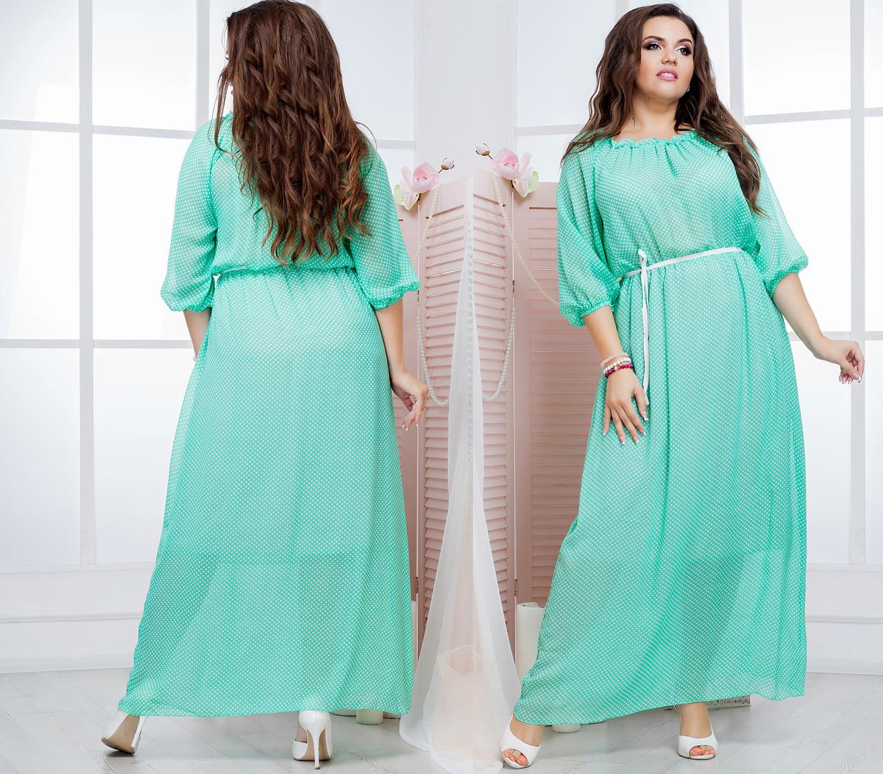 b74c61a9f266235 Длинное шифоновое платье, размер 42-44, 46-48, 50-52, 54-56, 58-60 ...