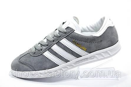 4dac37151c8448 Подростковые кроссовки Adidas Hamburg, Gray\White: купить в Украине ...