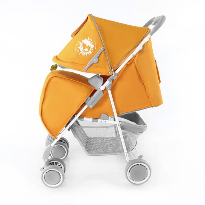 прогулочная коляска с большим капюшоном Тилли Вояж оранжевая