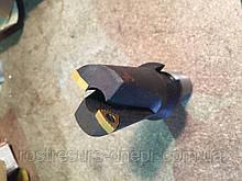 Свердло для свердління рейок 1С/420 (1С-420) ц/х 36мм з т/з пластиною WCMX 06T308-37 вкорочене підвищеної жест