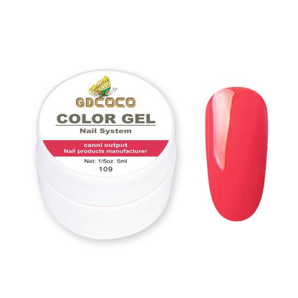 Гель-краска GDСосо Color Gel 109 Ярко-красный 5 ml