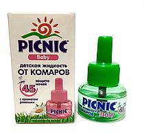 Средство для электрофумигатора против летающих насекомых PICNIC Baby, детская жидкость от комаров, 45 ночей.