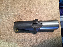 Свердло для свердління рейок 1С/459 (1С-459) ц/х 22мм з т/з пластиною WCMX 050308 вкорочене підвищеної жесткос