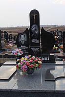 Двойные памятник из гранита заказать №46