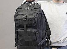 Тактический (городской) рюкзак Oxford 600D с системой M.O.L.L.E на 40 литров Black (ta40-black), фото 3