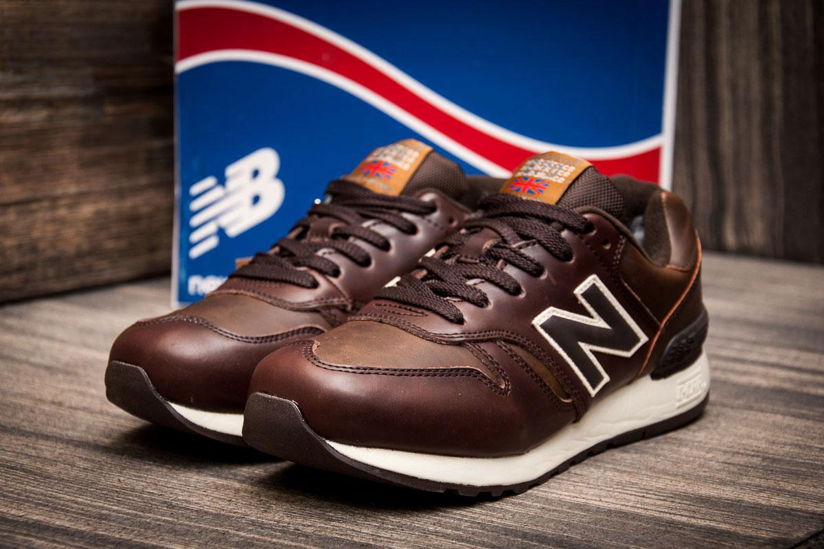 Зимние кроссовки на меху в стиле New Balance C-CAP, коричневые (3199-1),  [  46 (последняя пара)  ]