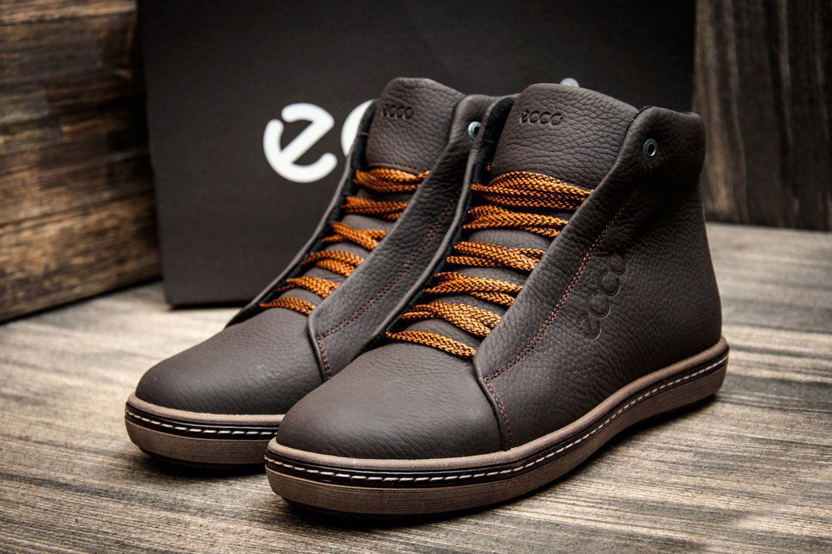 Зимние кроссовки в стиле Ecco SSS Shoes, коричневые (3808-2),  [  40 45  ]