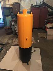 Водонагреватель-титан на твердом топливе 60 литров (под обычный смеситель), фото 3