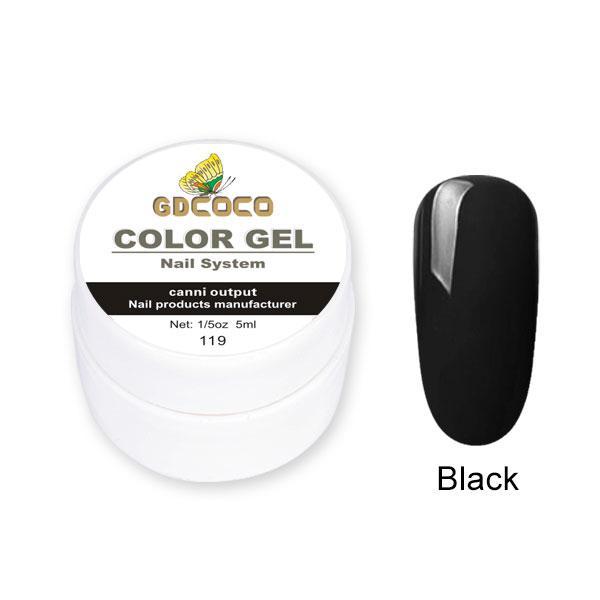 Гель-краска GDСосо Color Gel 119 Черный 5 ml
