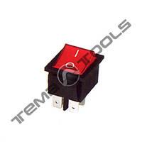 Перемикачі клавішні (рокерные) КП-14-220В, 6 контактів, ON-OFF або ON-ON з фіксацією, малий розмір корпусу