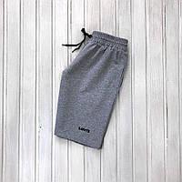 Чоловічі шорти Leli's літні з трикотажу зручні спортивні шорти в стилі левайс сірого кольору