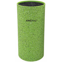 Колода для ножей зеленая KingHoff, размер 11*22см, 1094KH /П2