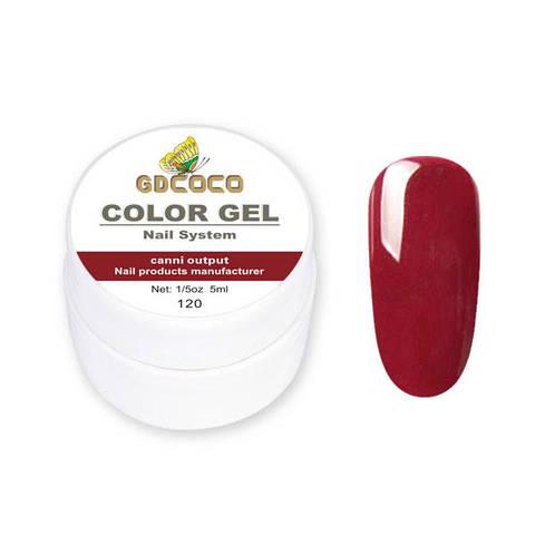 Гель-краска GDСосо Color Gel 120 Бордовый 5 ml