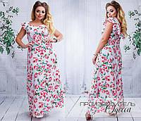 Нарядное платье в пол, ткань софт. Размер 48-50, 52-54, 56-58. В наличии 3 цвета, фото 1