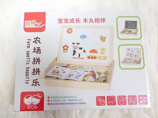 Деревянная магнитная развивающая игрушка/Магнитная доска, фото 2