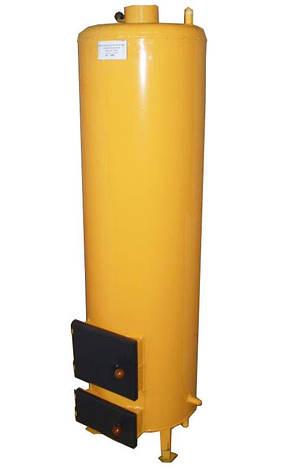 Водонагреватель-титан на твердом топливе 200 литров (под специальный смеситель), фото 2