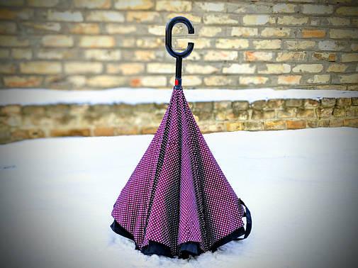 Зонт-наоборот, up-brella, механический, сиреневый, фото 2