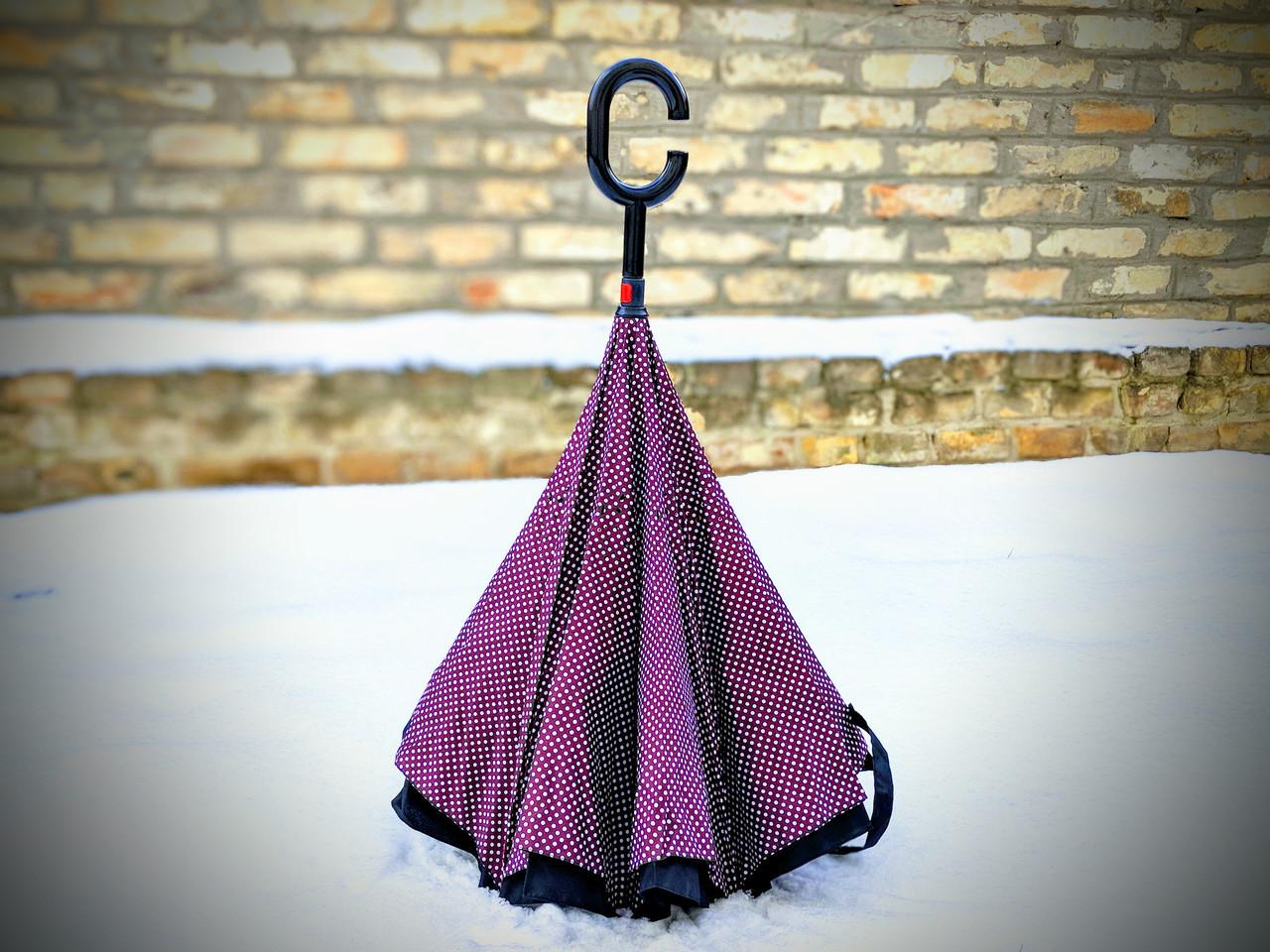 Зонт-наоборот, up-brella, механический, сиреневый