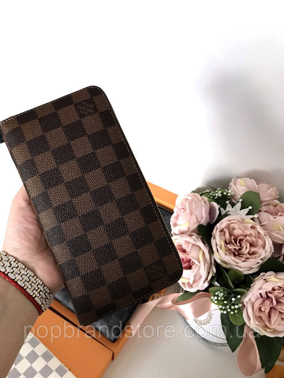 0d1ab45122307 Портмоне LOUIS VUITTON DAMIER CANVAS (реплика)  продажа